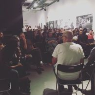 Photo of the crowd from the Philadelphia release at Slought
